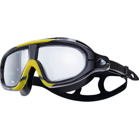 TYR Orion Gafas Máscara Natación, smoke/black/yellow